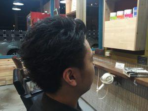 接客メインの飲食店スタッフさんのオンオフカットパーマ