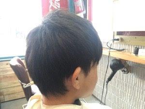 刈り上げない長め好きな学生カット【校則範囲 中学生カット】