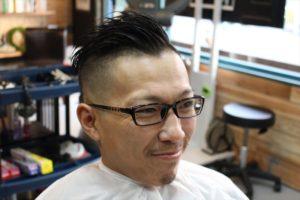 【カット後の前アングル髪型】お洒落モヒカン鹿児島美容室
