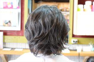 【カット前髪型後バックアングル】深夜まで営業している天文館・鹿児島中央駅近くの美容室
