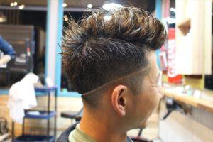 アフター右サイド【鹿児島 BARBAR メンズ】バリカンアートラインモヒカンスタイル
