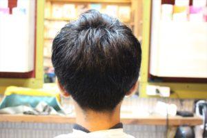前髪長め重めのマッシュ【校則範囲 中学生カット】
