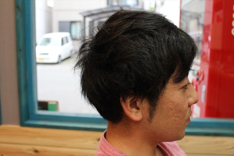 【横ビフォー】鹿児島 男性 髪型 スーツに似合う
