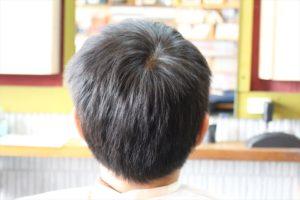 【カット前の後ろ髪型】お洒落モヒカン鹿児島美容室
