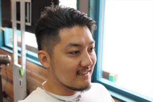 【カット後髪型正面アングル】深夜まで営業している天文館・鹿児島中央駅近くの美容室